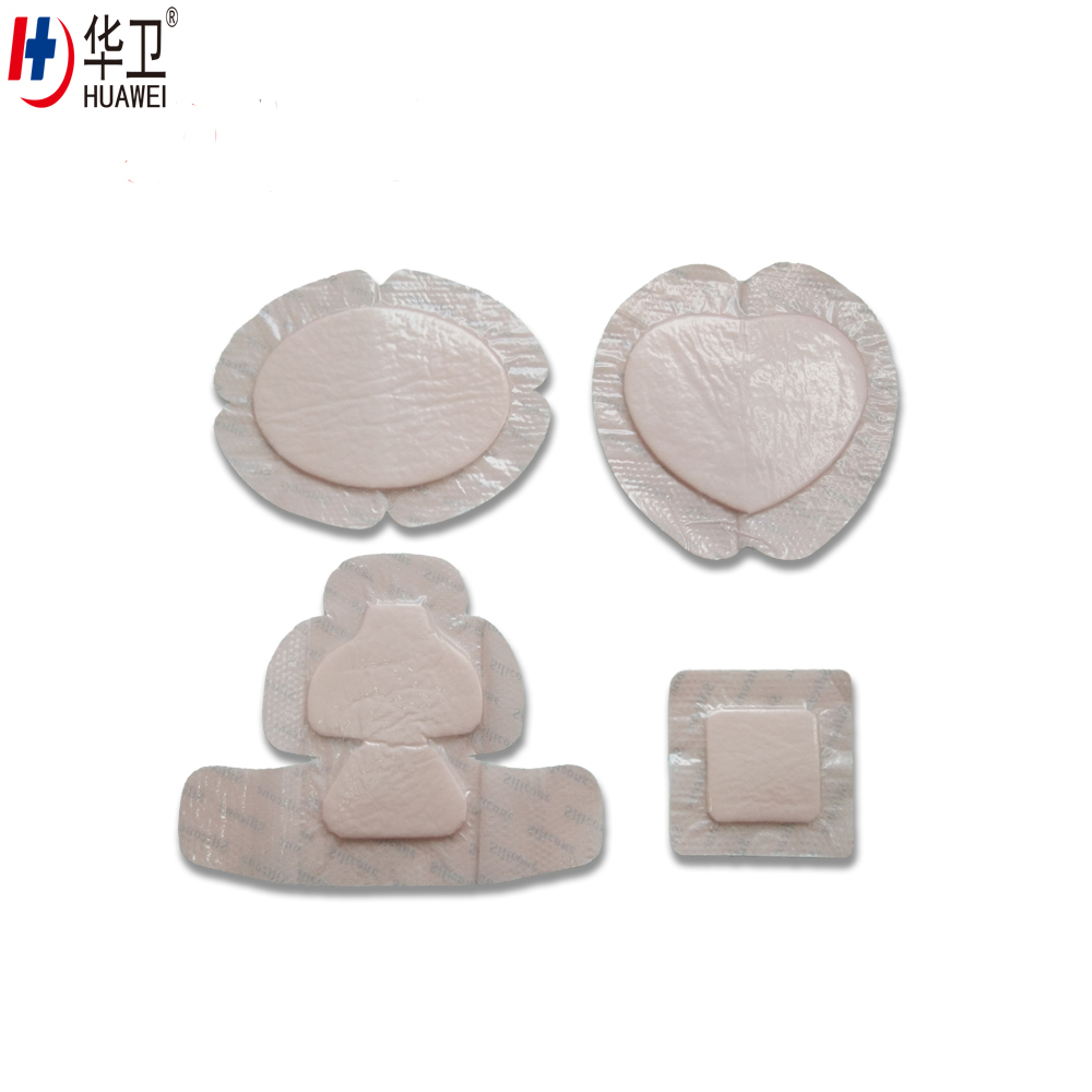 High Absorbent Wound Healing Silicone Foam Wound Dressing