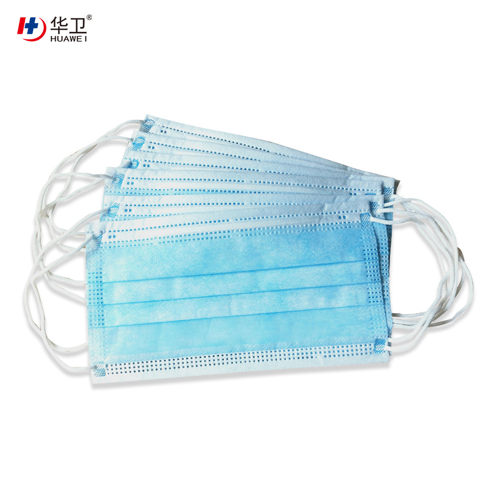 Disposable 3ply non woven face mask with earloop staple goods