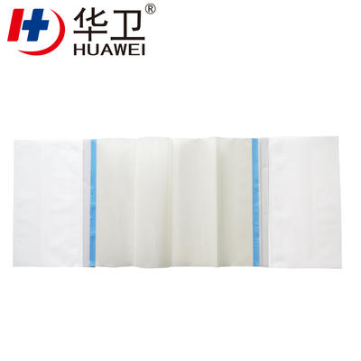 PU Adhesive Surgical Incise Dressing Drape With Double Wastage Collection Bag