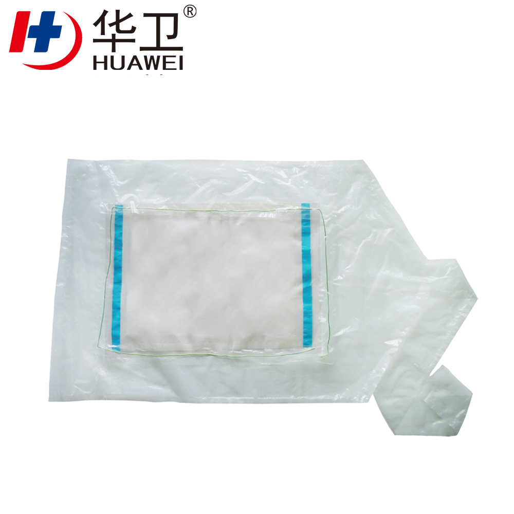 PU Adhesive Incise Dressing Drape With Four Side Connection Wastage Collection Bag