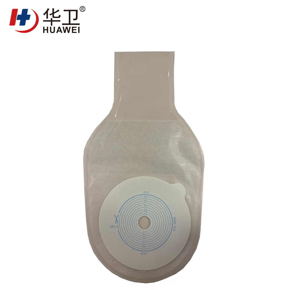 Self-adhesive seal ostomy bag