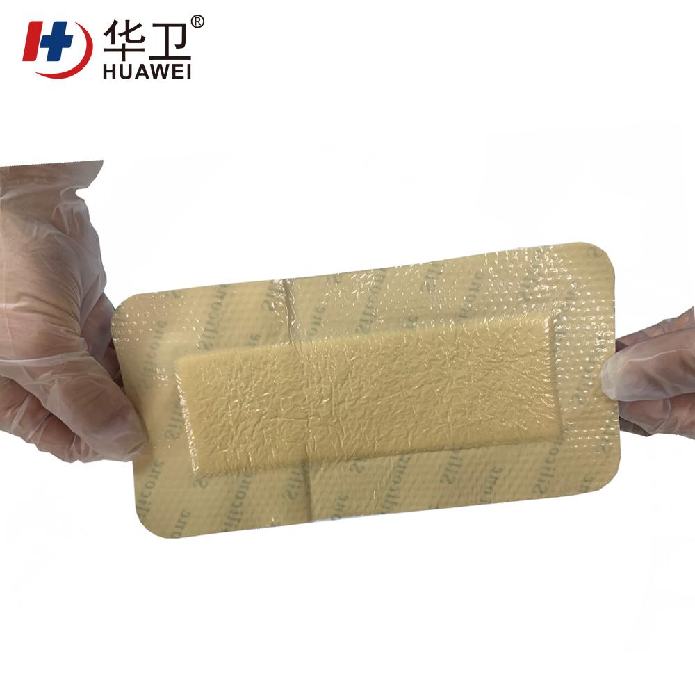 10*15cm silicone foam wound dressing